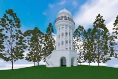Turm als Ganzes rekonstruiert